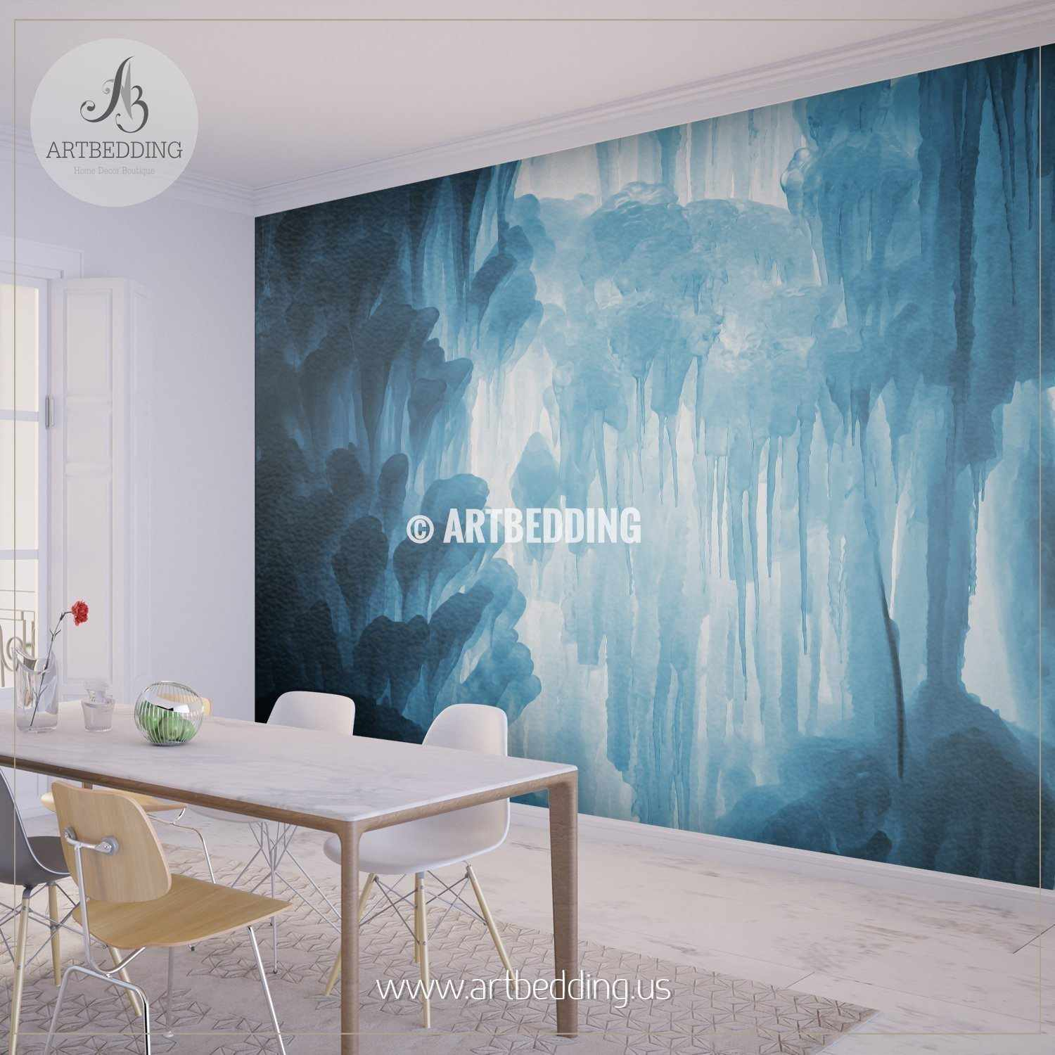 Frozen wall mural choice image home wall decoration ideas wall murals wall tapestries canvas wall art wall decor tagged large blocks of ice frozen waterfall amipublicfo Choice Image
