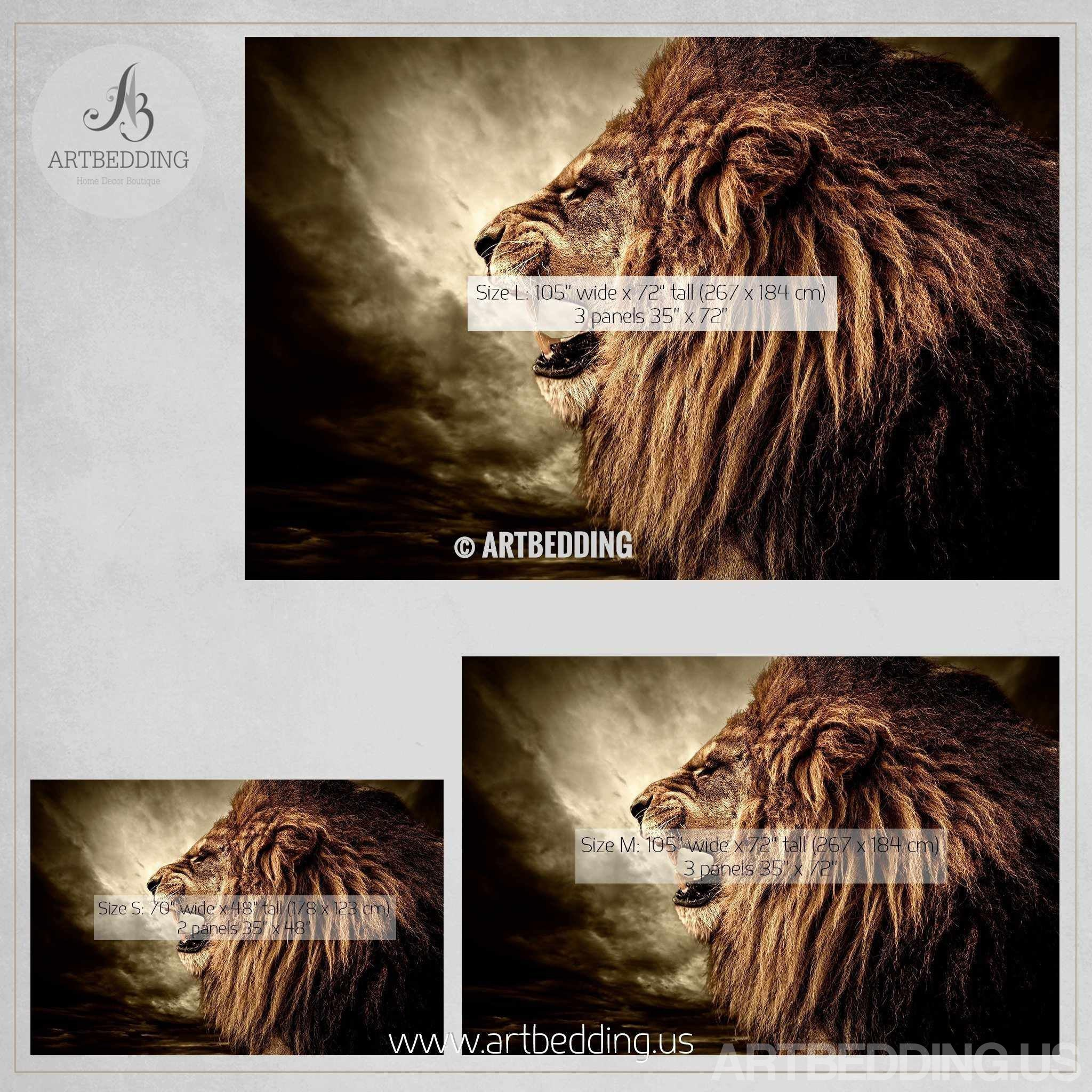 Wall murals peel and stick self adhesive vinyl hd print tagged lion wall mural wild lion e self adhesive peel stick photo mural african amipublicfo Image collections