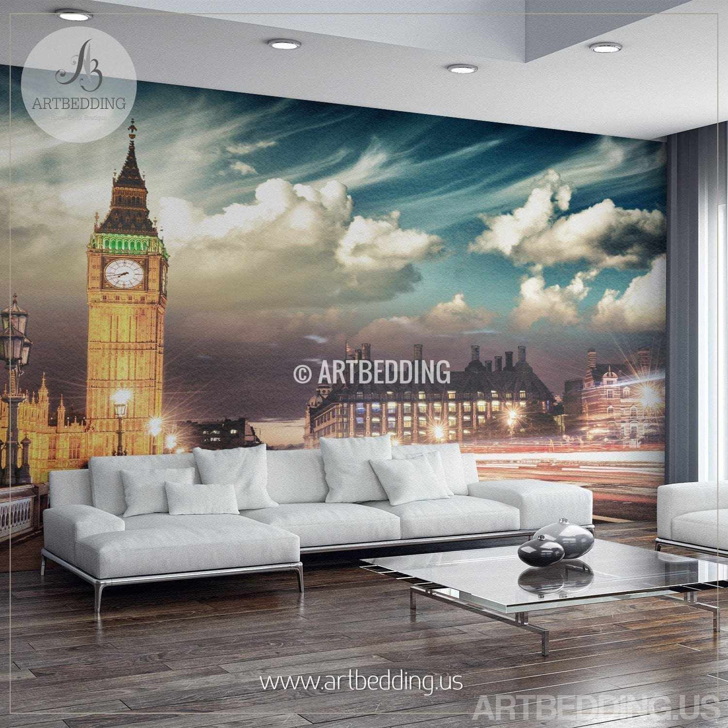 ... London Big Ben Wall Mural, London City Photo Mural, London Wall Decor,  Wall ... Amazing Ideas