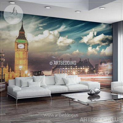 London Big Ben Wall Mural, London City Photo Mural, London wall decor, Wall mural home decor wall mural