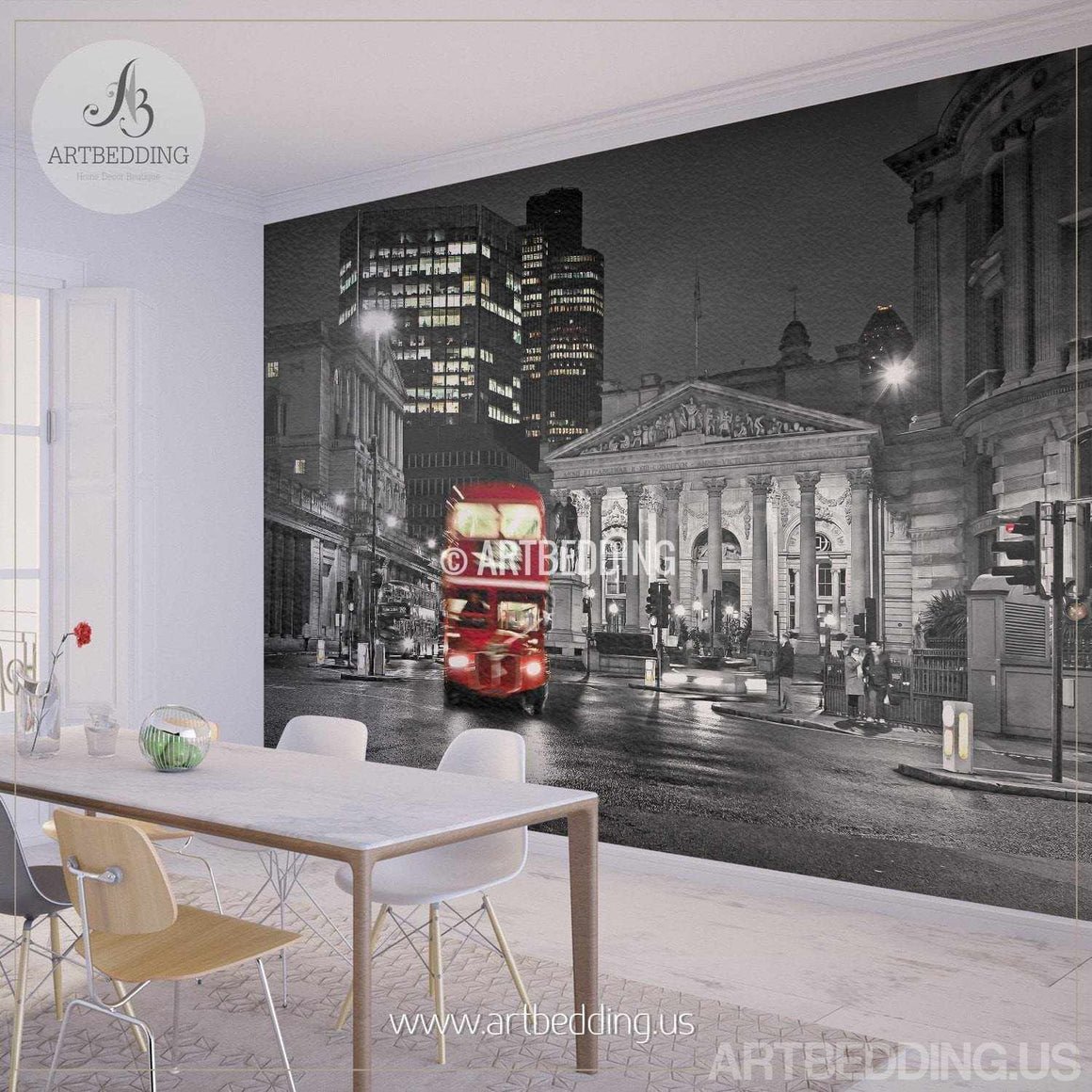 Wall murals peel and stick self adhesive vinyl hd print page 2 london in black and red wall mural london city photo mural london wall decor amipublicfo Choice Image
