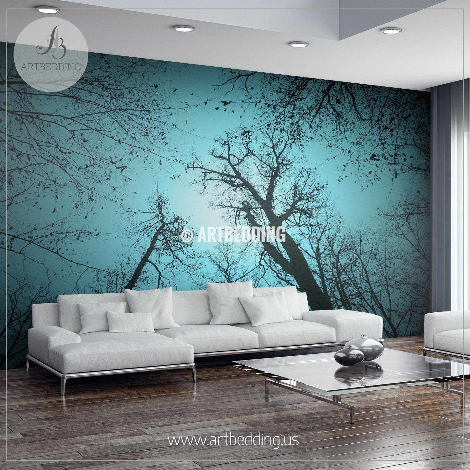 ... Magical Forest Self Adhesive Peel U0026 Stick, Nature Wall Mural Wall Mural  ... Part 94