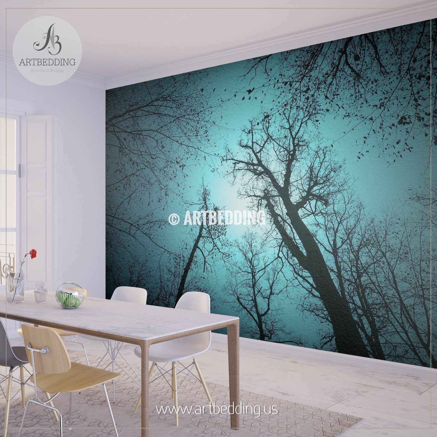 ... Magical Forest Self Adhesive Peel U0026 Stick, Nature Wall Mural Wall Mural  ... Part 87