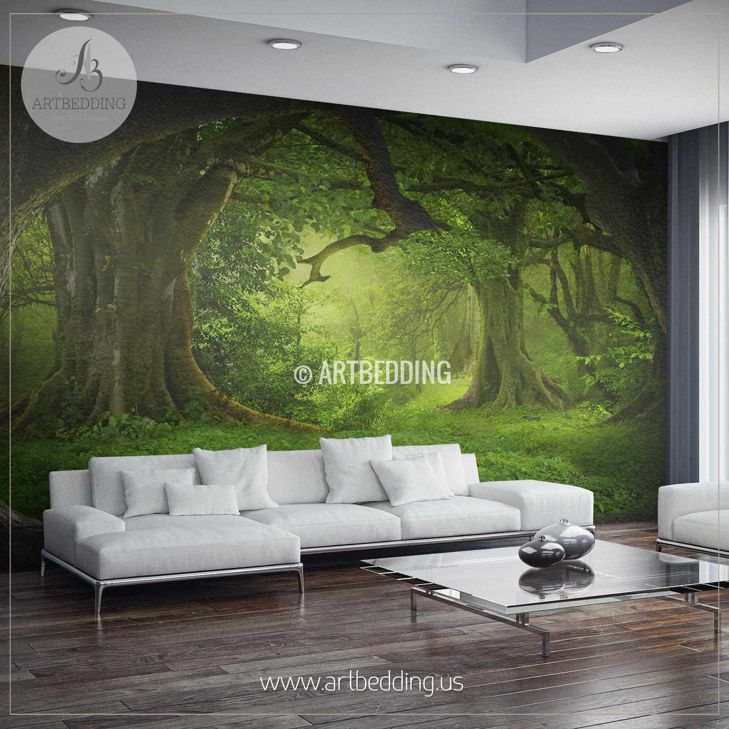 Delightful ... Magical Forest Self Adhesive Peel U0026 Stick, Nature Wall Mural Wall Mural  ... Part 16