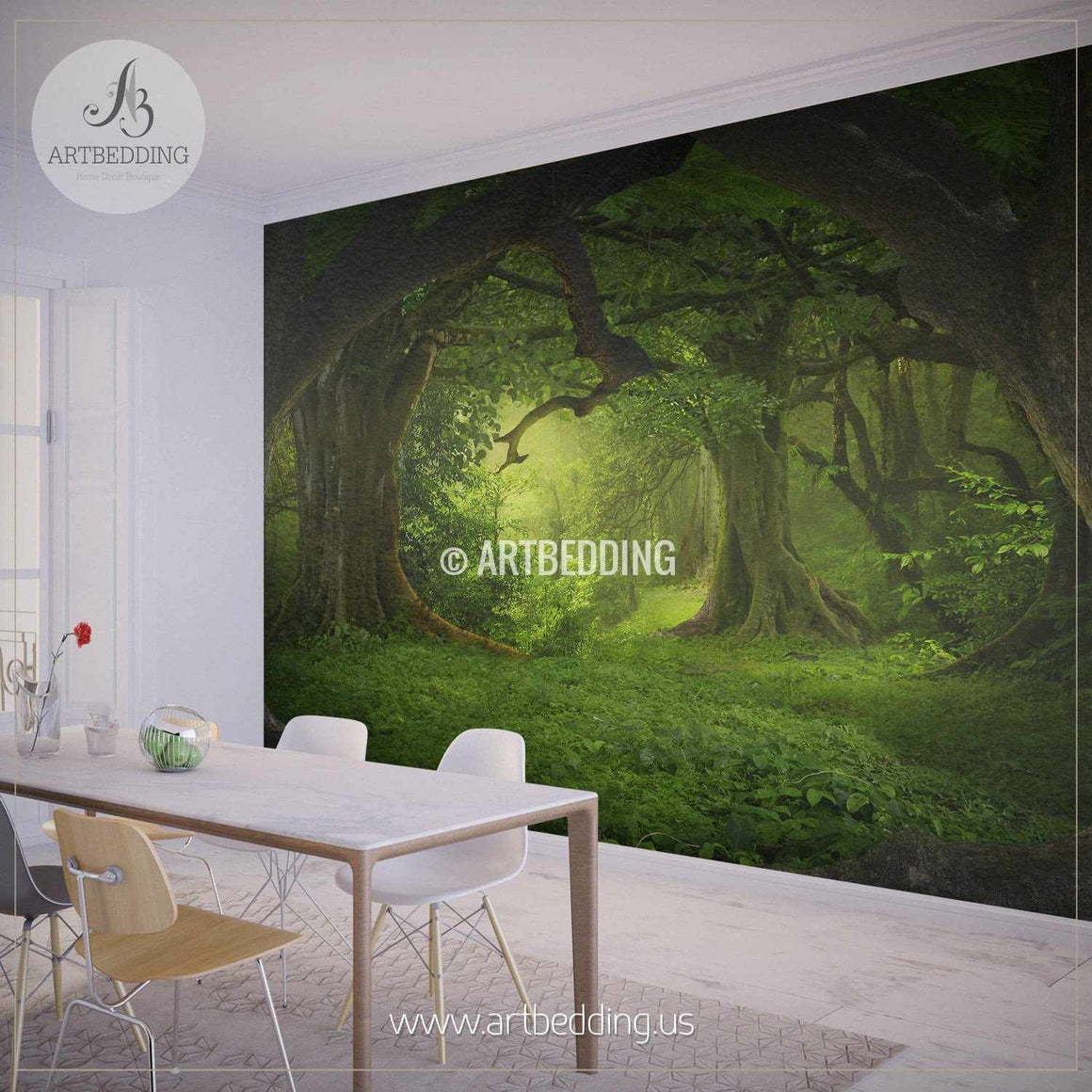 Magical Forest Self Adhesive Peel & Stick, Nature wall mural wall mural