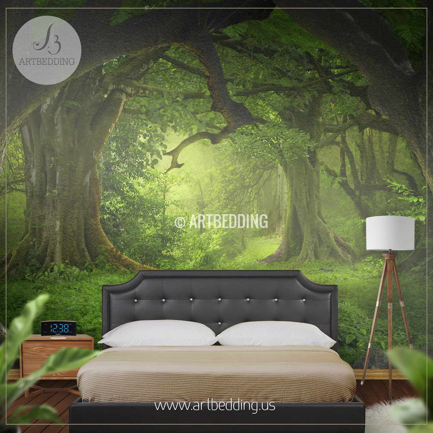 ... Magical Forest Self Adhesive Peel U0026 Stick, Nature Wall Mural Wall Mural  ... Part 73