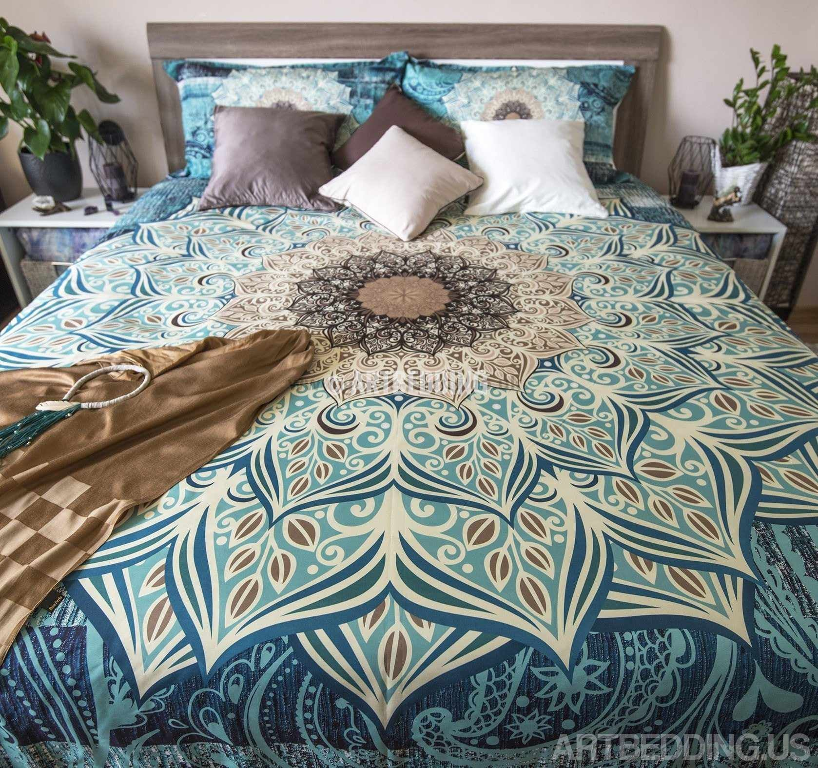 bohemian size martha bedding country barbara stewart of set twin full comforter uk boho palm duvet barry style coverlet covers tree lacoste