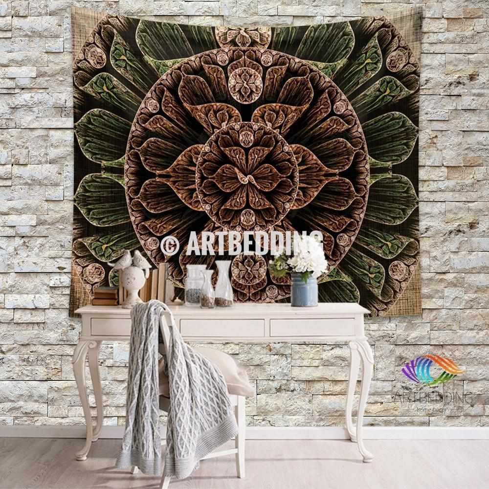Mandala Tapestry, Carved wood wall tapestry,mandala wall hanging, bohemian tapestries