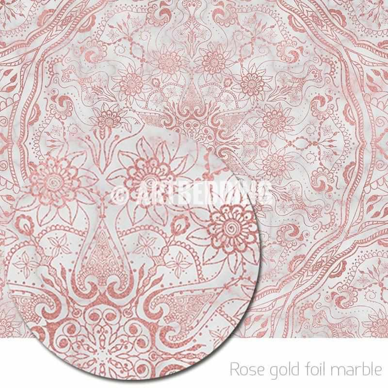 Mandala Tapestry Mehendy Henna Rose Gold And Marble Mandala Wall