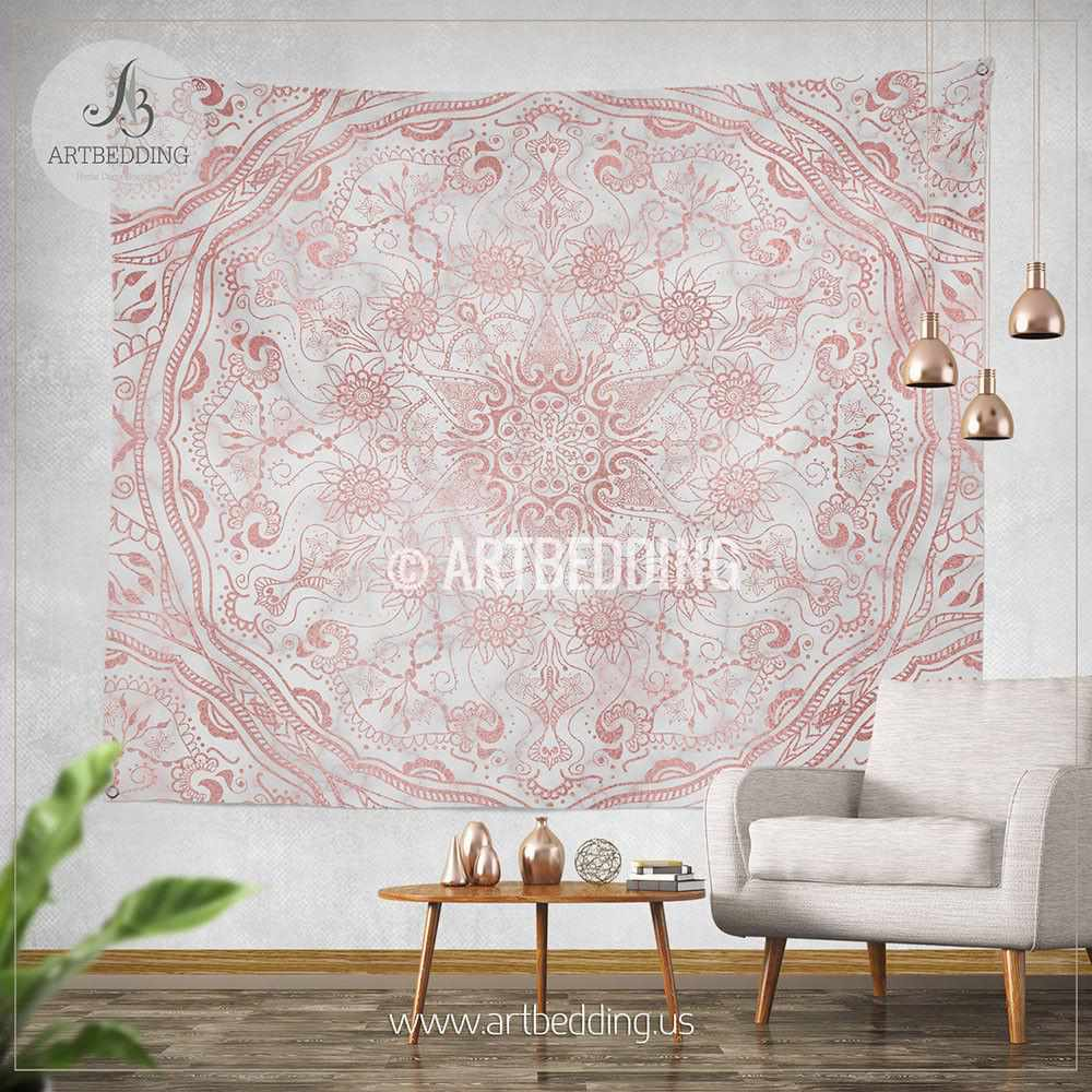 Best Wallpaper Marble Mandala - mandala-tapestry-mehendy-henna-rose-gold-and-marble-mandala-wall-tapestry-bohemian-tapestry-vintage-rose-gold-mandala-decor-29058424148  Photograph_315599.jpg?v\u003d1499379263