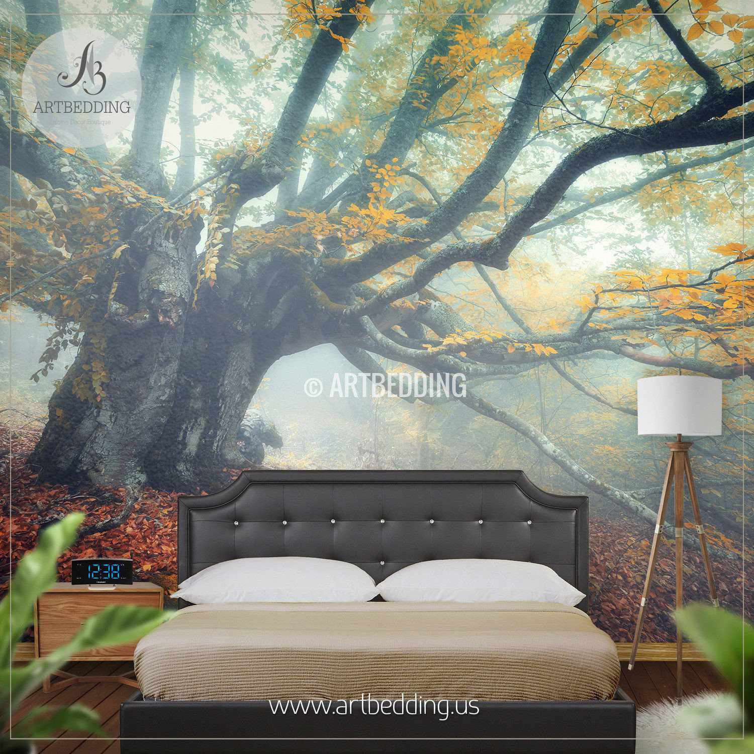 Mystical Autumn Forest Self Adhesive Peel Stick Nature wall mural