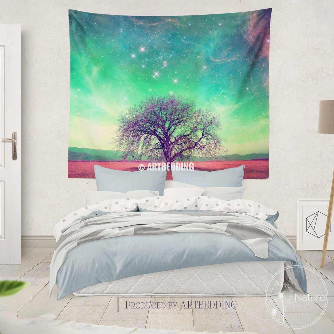 Nature wall decor, Tree of life fantasy wall art print, bedroom wall tapestries, fantasy wall hanging, bohemian wall tapestry