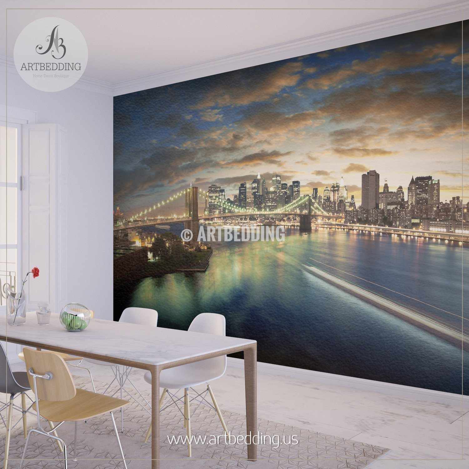 New York City Sunset Cityscape Wall Mural USA Photo sticker USA