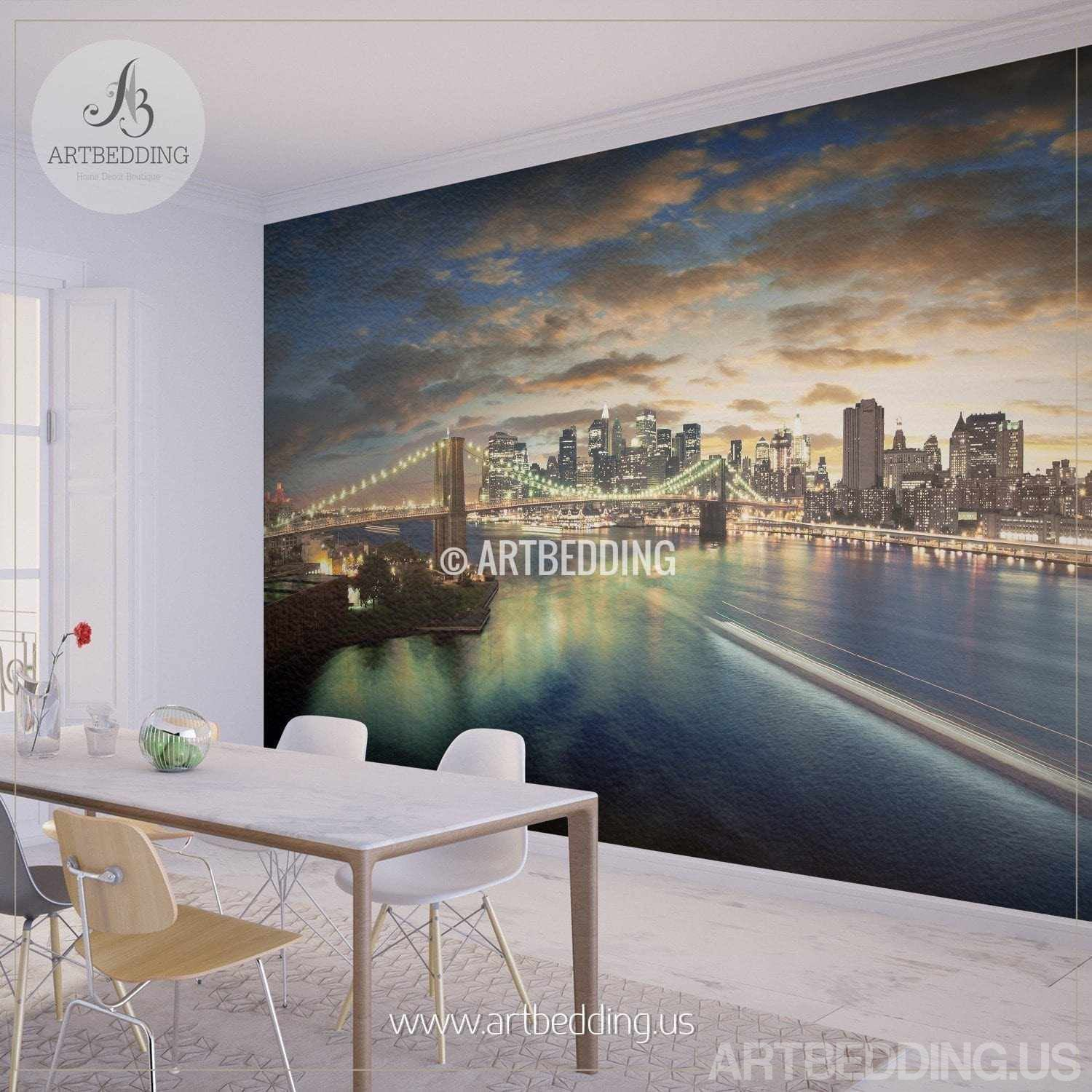 wall murals peel and stick self adhesive vinyl hd print page 2 new york cityscape wall mural new york sunset photo sticker new york downtown skyline