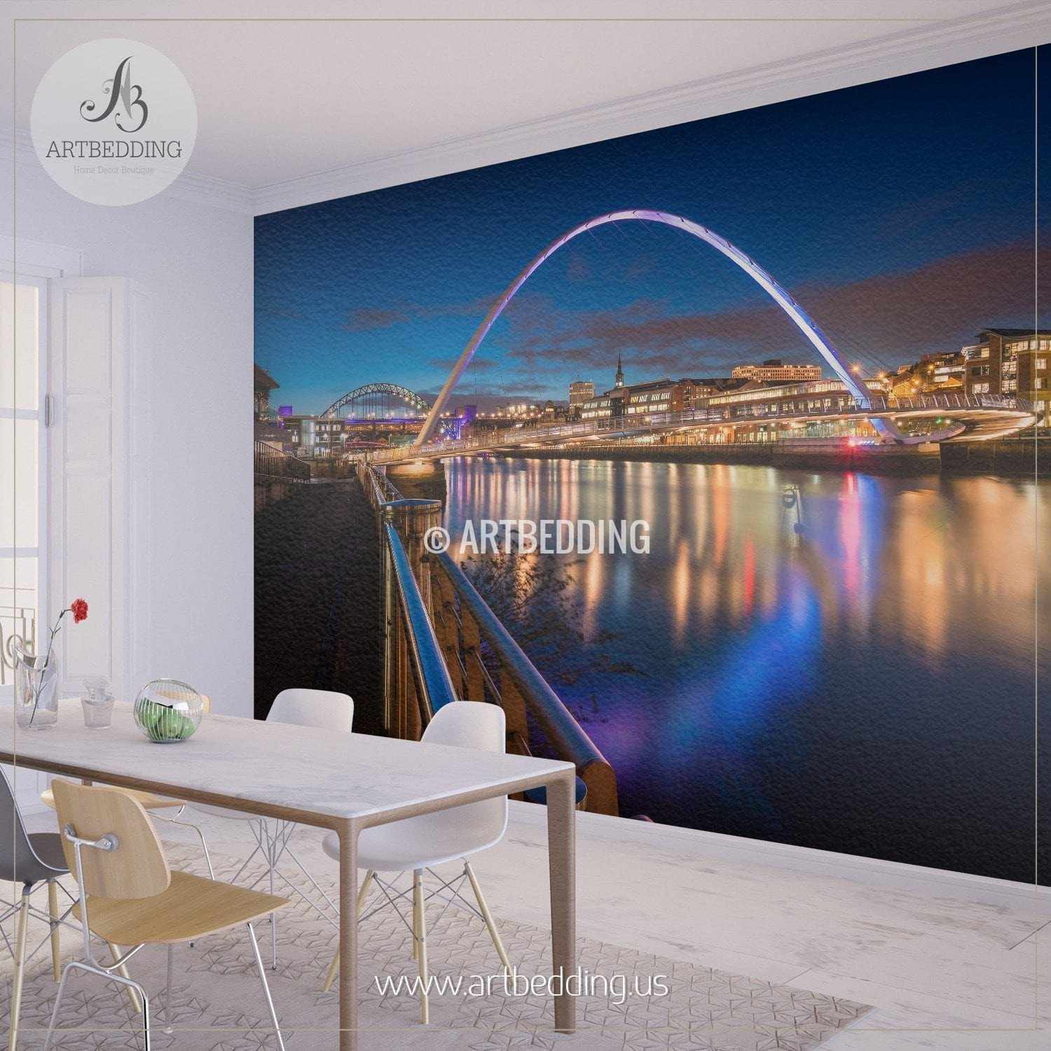Newcastle upon Tyne Great Britain Cityscape Wall Mural Newcastle