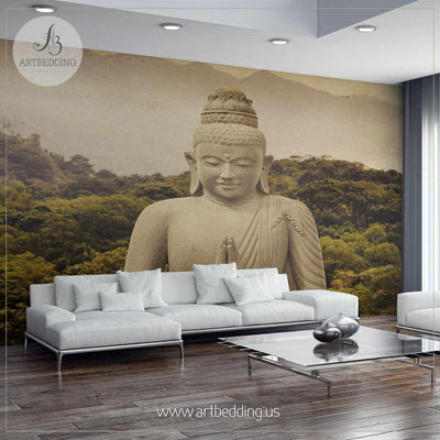 Old Buddha Wall Mural, Landmarks Photo Mural, photo mural wall décor wall mural