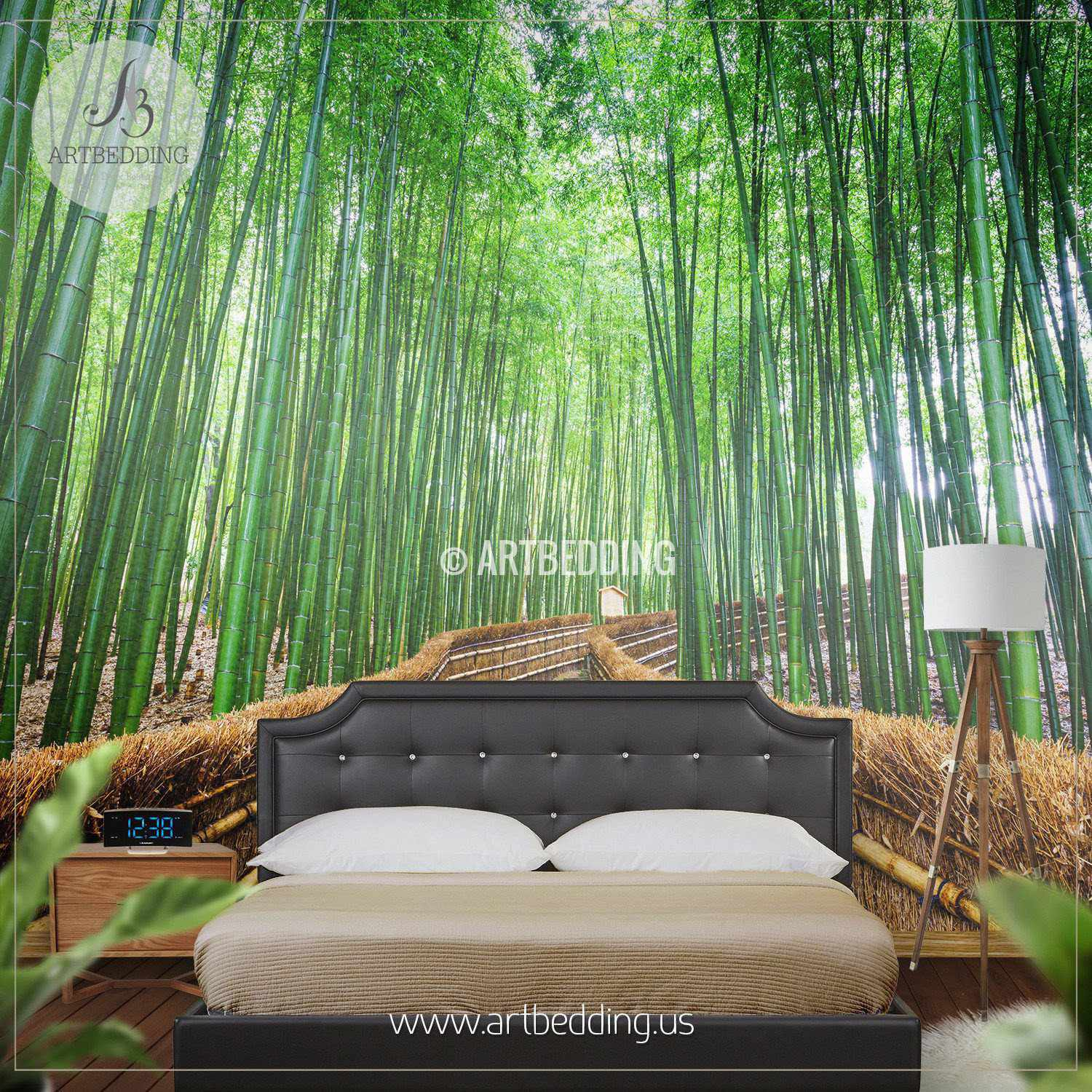 Superior ... Path To The Bamboo Forest Self Adhesive Peel U0026 Stick, Nature Wall Mural  Wall Mural ... Part 16