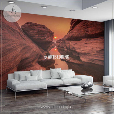 Peaceful sunset view from the Grand Canyon Wall Mural, Self Adhesive Peel & Stick wall mural wall mural