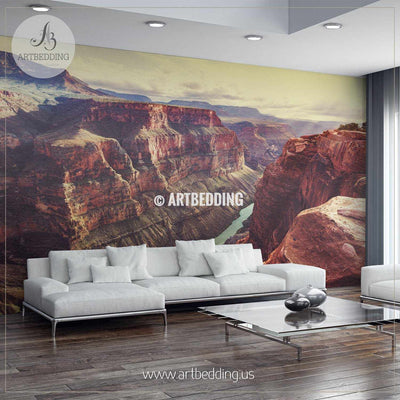 Picturesque landscapes of the Grand Canyon Self Adhesive Peel & Stick, Nature wall mural wall mural