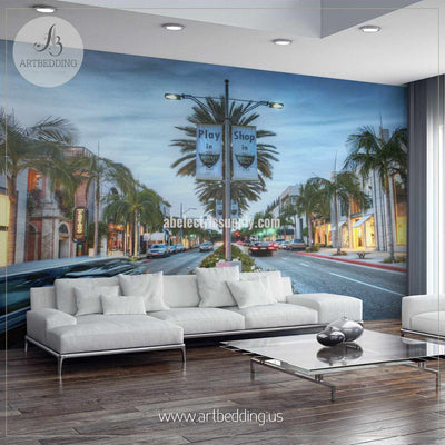 Play in Beverly Hills Cityscape Wall Mural, USA Photo sticker, USA wall decor wall mural