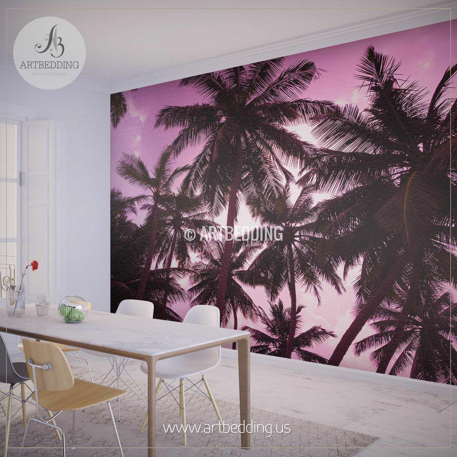Romantic sunset on exotic beach self adhesive photo mural romantic sunset on exotic beach wall mural self adhesive peel stick photo mural amipublicfo Image collections