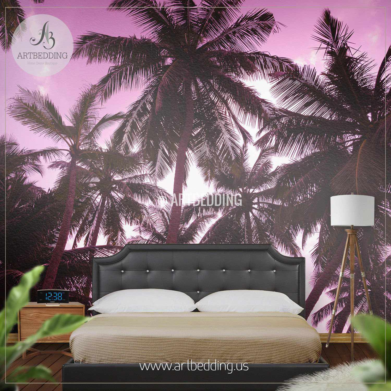Romantic Sunset on Exotic Beach Self Adhesive Photo Mural ARTBEDDING