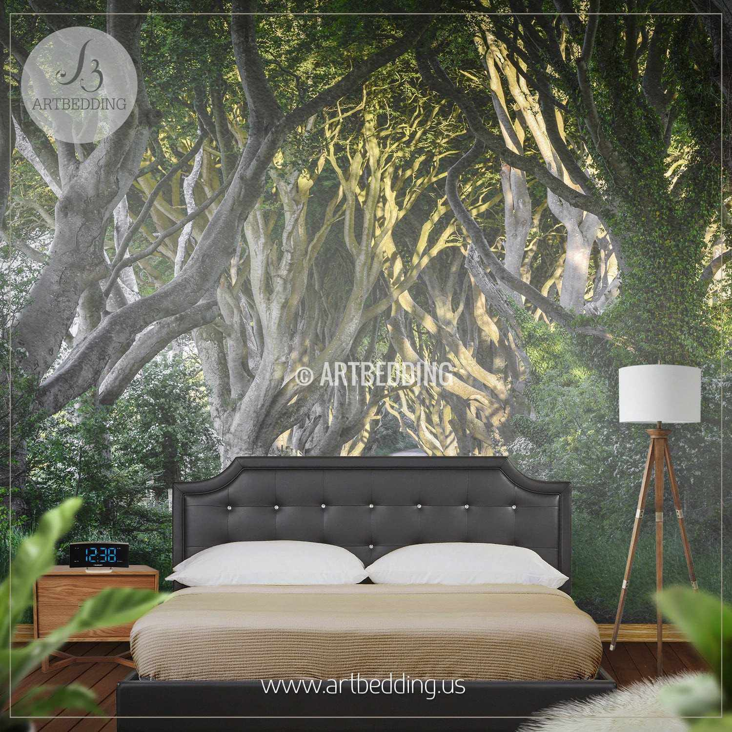 Wall Murals Nature route through forest, self adhesive photo mural - artbedding