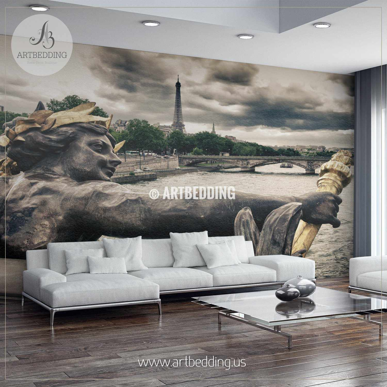 ... Seine River And Eiffel Tower Viewed From Alexander III Bridge Wall  Mural, Photo Mural, ... Part 48