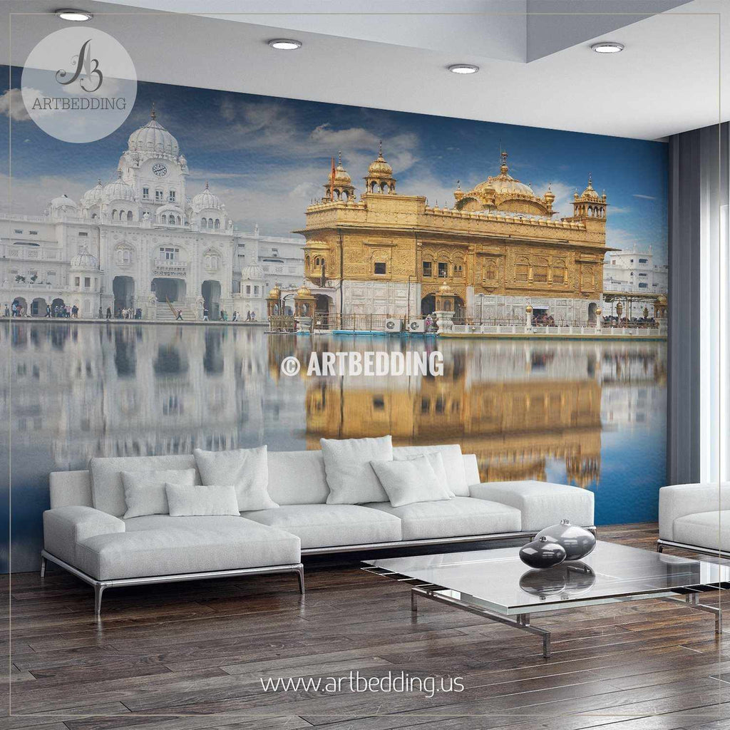 Sikh gurdwara golden temple india wall mural landmarks photo mural photo mural wall décor