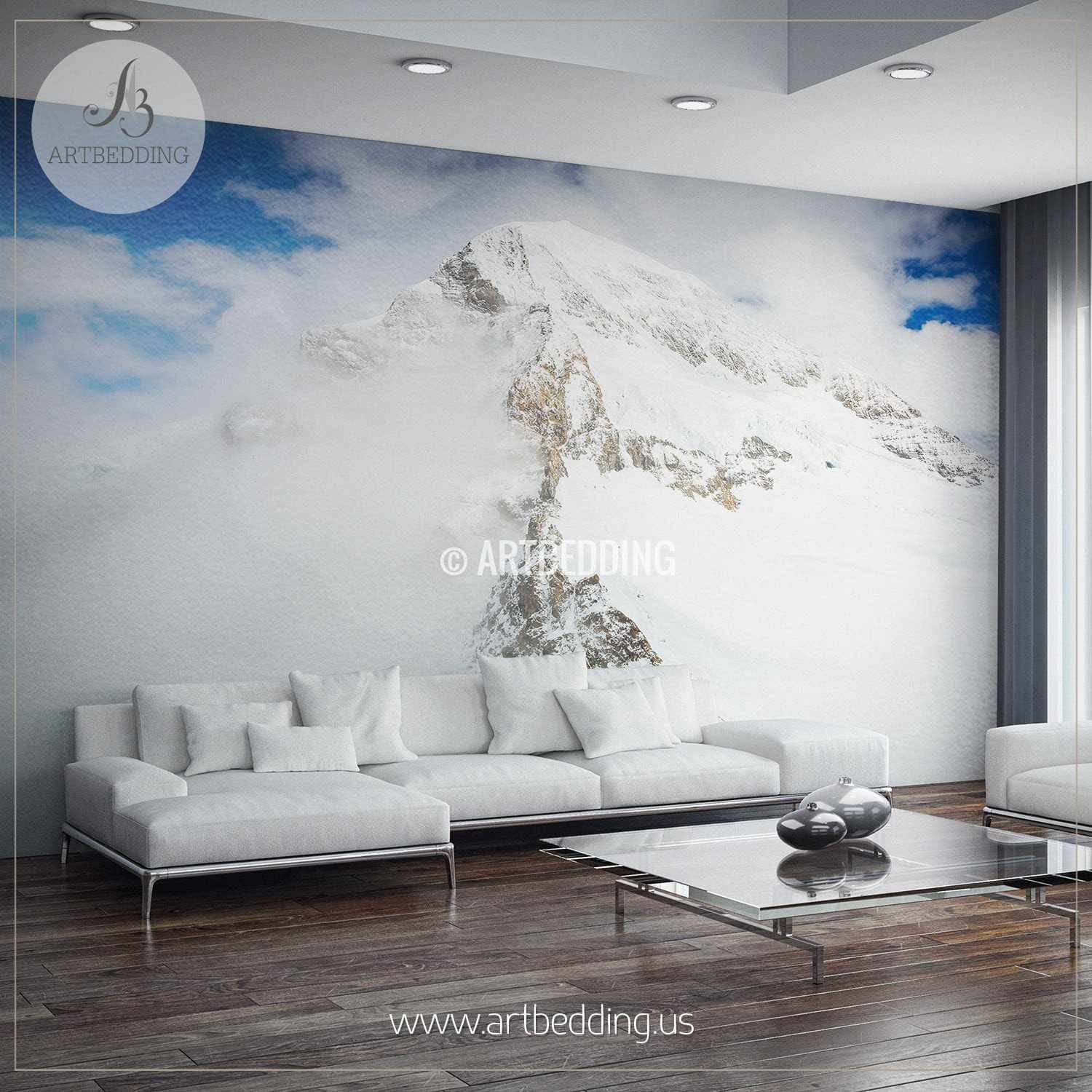 Snow Mountain Self Adhesive Photo Mural ARTBEDDING