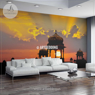 Sunset in Rajasthan, India Wall Mural, Landmarks Photo Mural, Cityscape photo mural wall mural