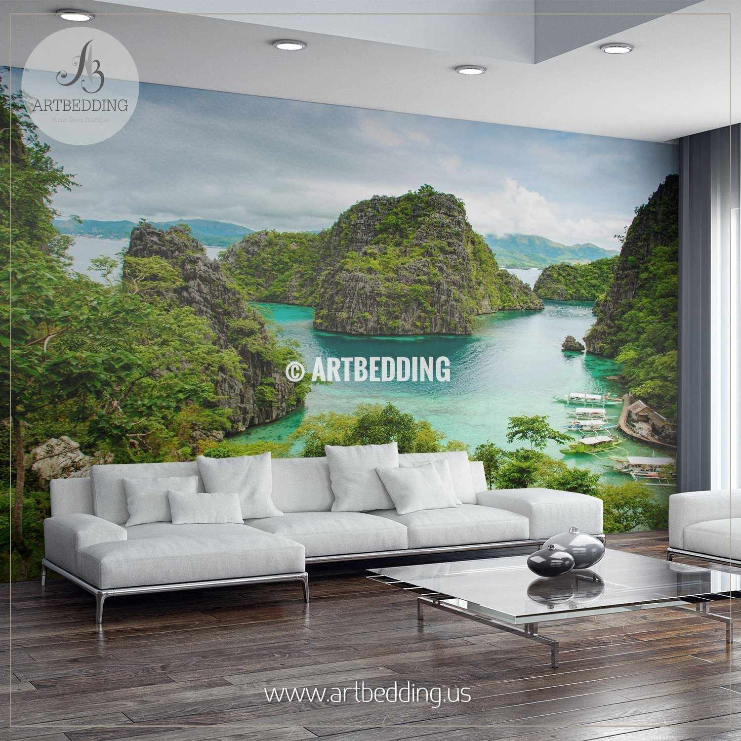 Superb View from Coron Island Wall Mural Self Adhesive Peel Stick