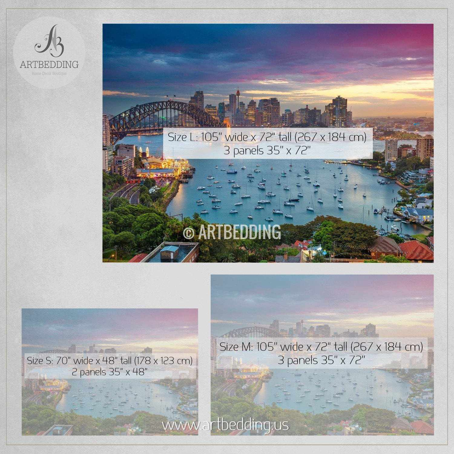 wall murals peel and stick self adhesive vinyl hd print page 5 sydney with harbour bridge and skyline during sunset cityscape wall mural australia photo sticker