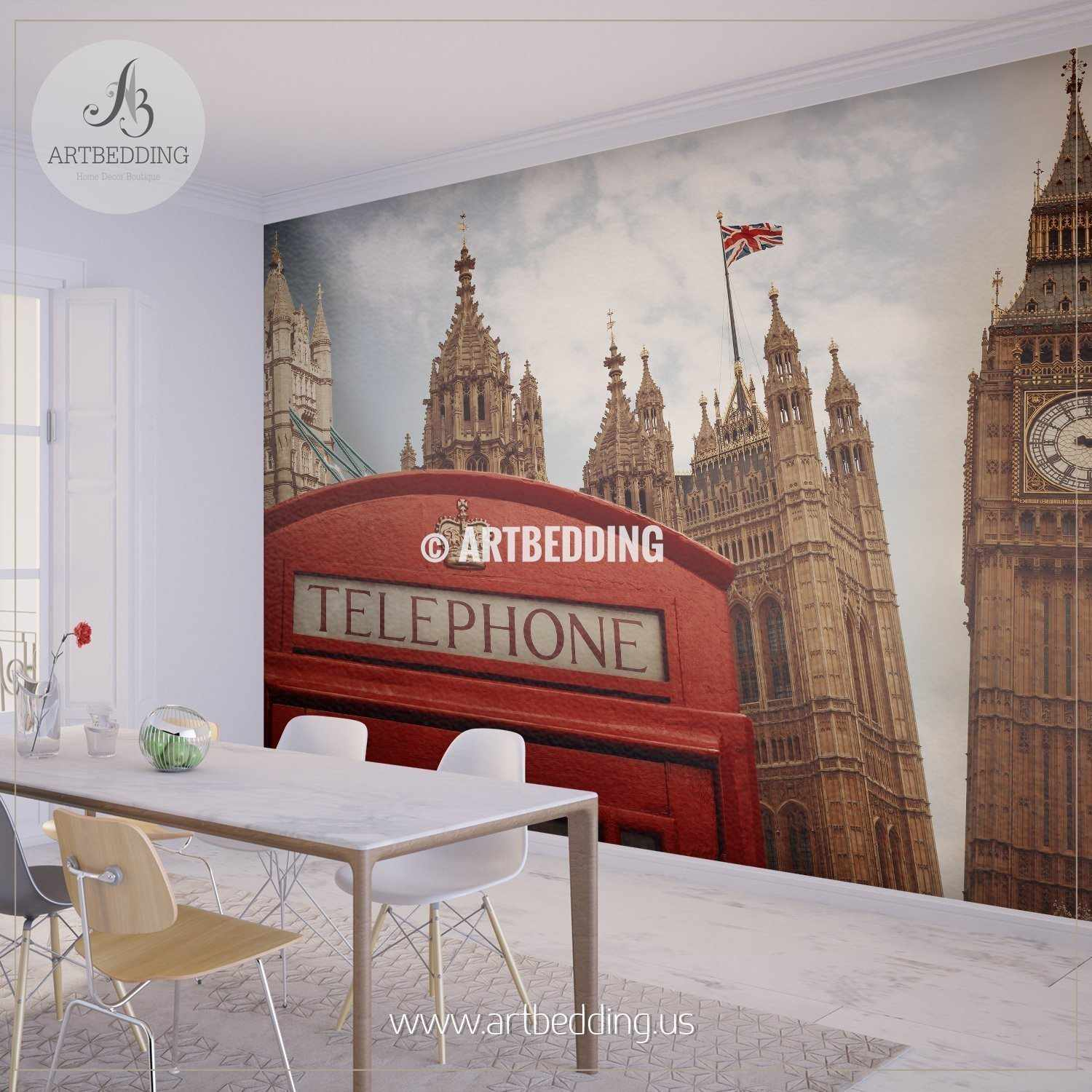 Wall murals peel and stick self adhesive vinyl hd print tagged symbols of london wall mural london city photo mural london wall dcor wall mural amipublicfo Choice Image