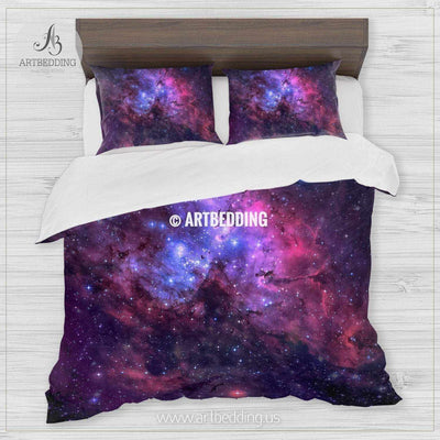 The Eagle Nebula bedding, Abstract space Bedding set, Galaxy print Duvet Cover, 3D galaxy bedding Bedding set