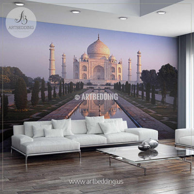The Taj Mahal at dawn Wall Mural, Landmarks Photo Mural, photo mural wall décor wall mural
