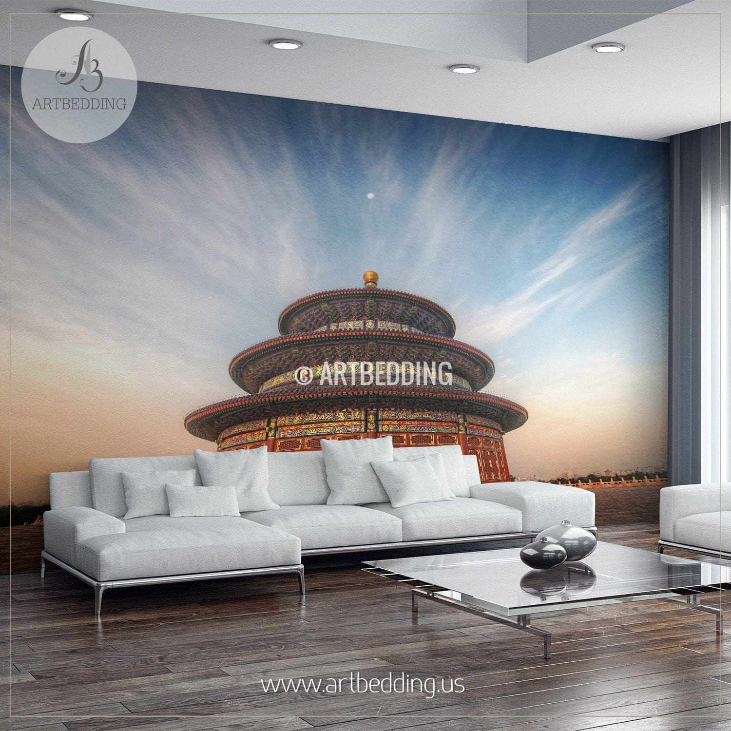 Wall murals peel and stick self adhesive vinyl hd print tagged the temple of heaven china cityscape wall mural china photo sticker china wall amipublicfo Gallery