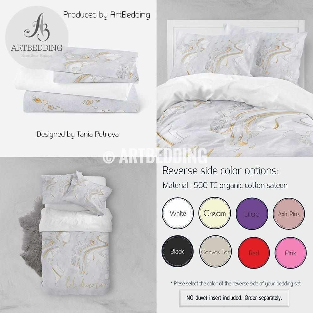 Travel map bedding, Liquid painting boho world map duvet cover set, Wanderlust travel world map comforter set Bedding set