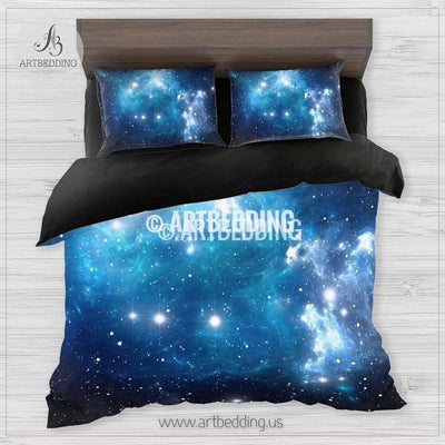 TWIN / TWIN XL Galaxy bedding set, Space comforter set, Deep space nebula Bedding set, stars sateen comforter set Bedding set