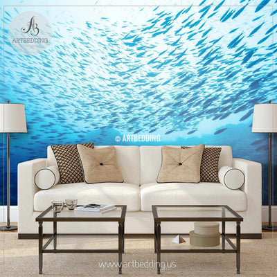 Under the Sea Wall Mural, Under the Sea Self Adhesive Peel & Stick Photo Mural wall mural