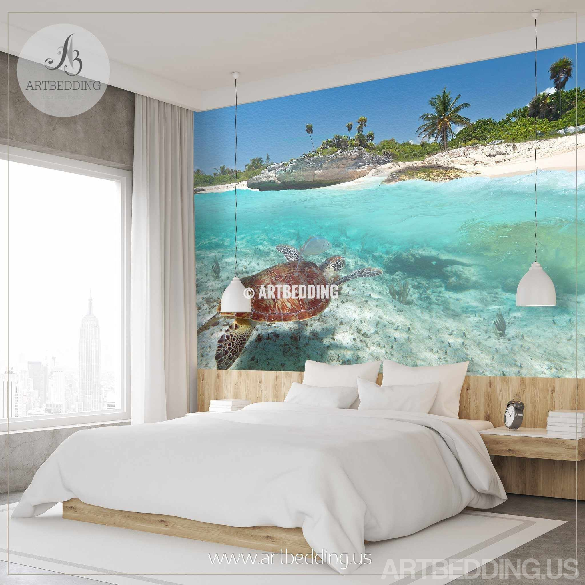 bedroom feathr wallpaper murals forest s wall mural la zephyr shop feature watercolour product by trees