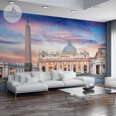 Vatican, Rome, St. Peter's Basilica Cityscape Wall Mural, Italy Photo sticker, Italy wall decor wall mural