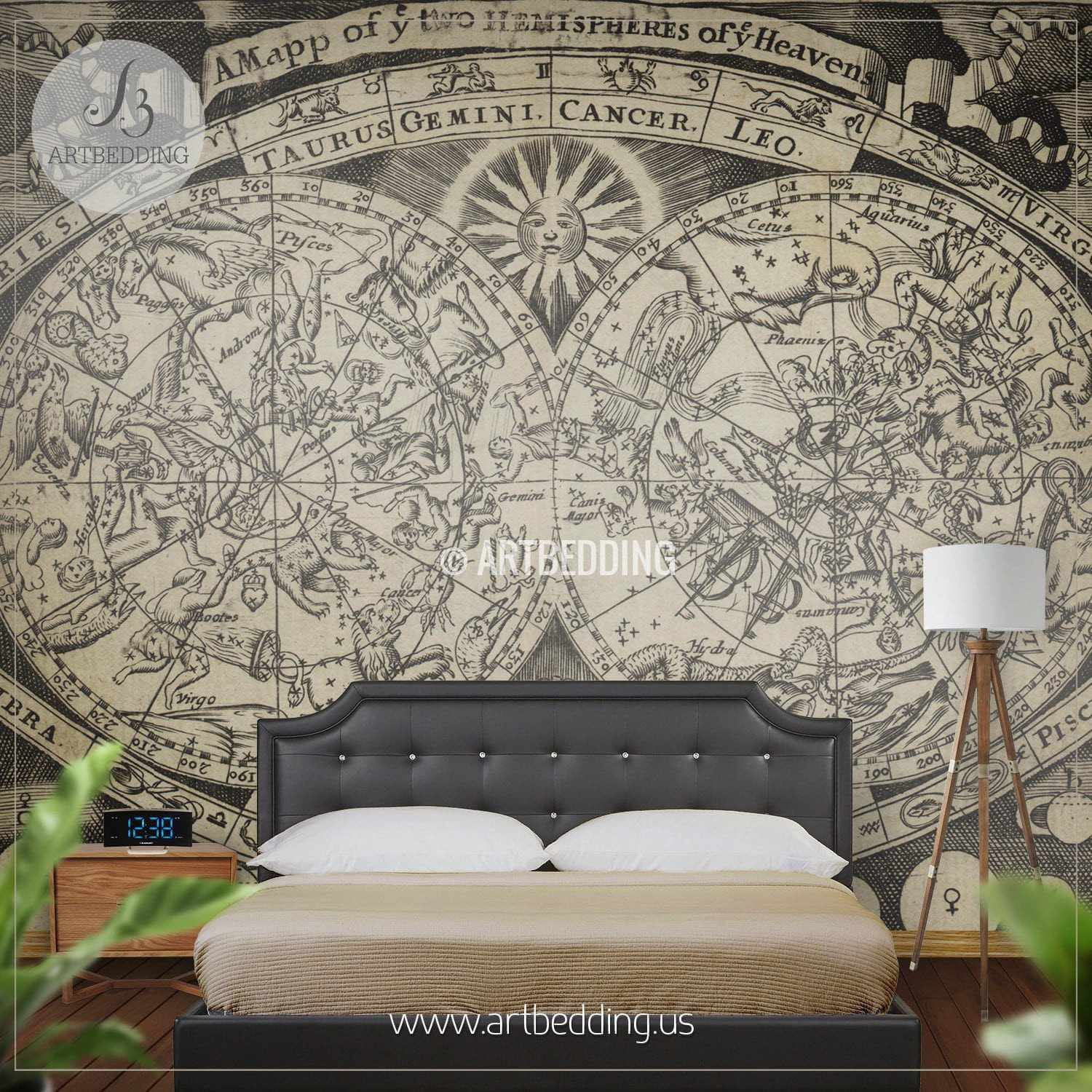 Awesome ... Vintage Stellar Map Wall Mural, Self Adhesive Peel U0026 Stick Photo Mural,  Atlas Wall ... Part 32