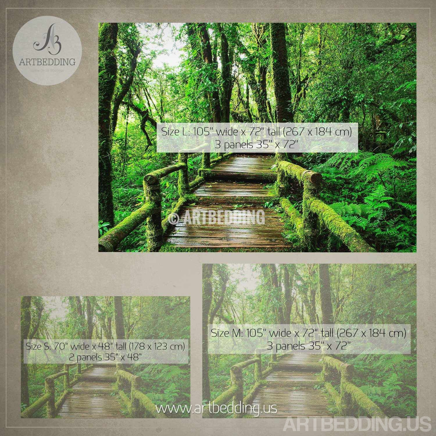 Nature wall mural chery blossom pathway on a green lawn cherry wall mural deep forest bridge forest photo mural self adhesive peel stick nature amipublicfo Choice Image