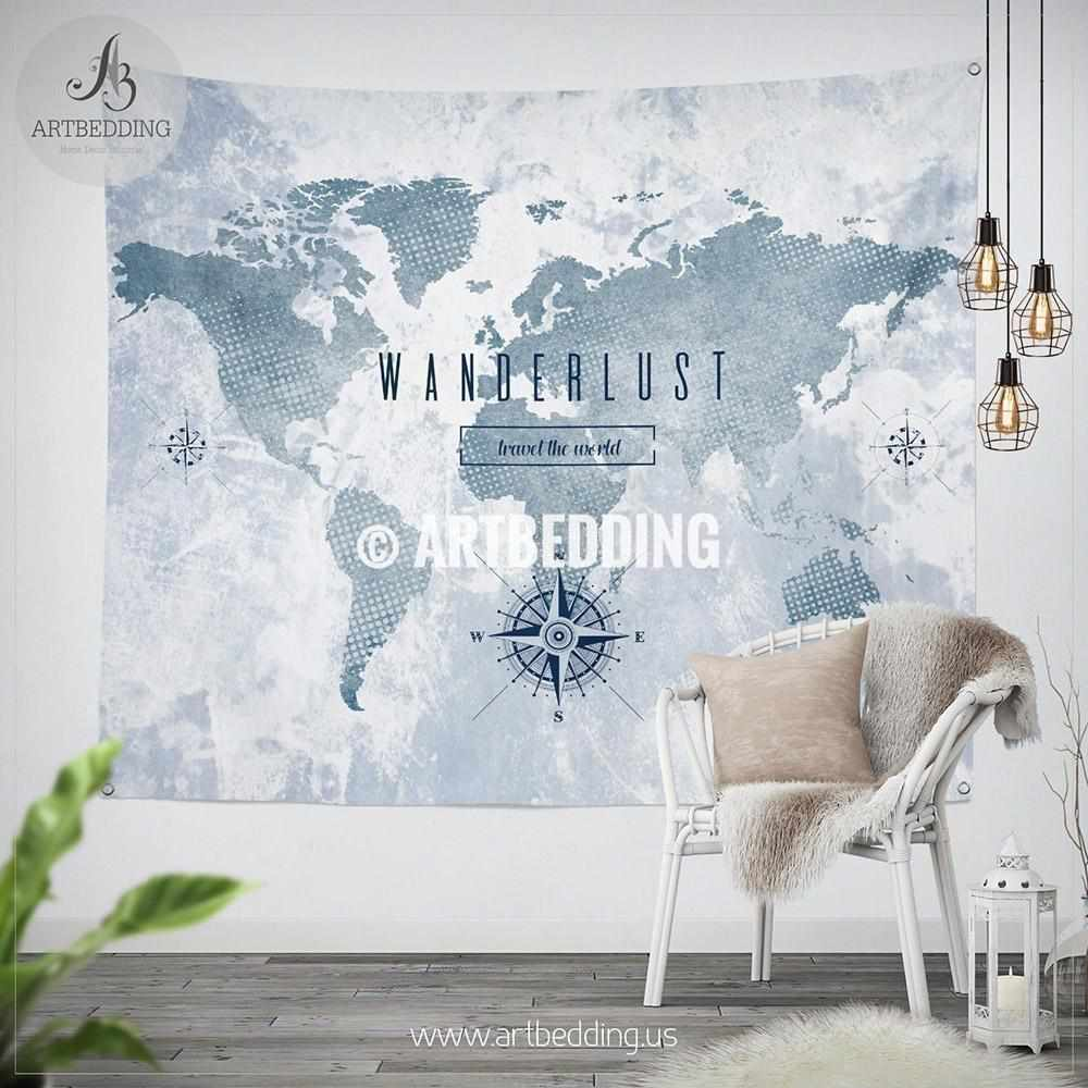 Wanderlust wall Tapestry, World map watercolor wall hanging, Grunge on world map search engine, world map family, world map art, world map red, world map pillow, world map photography, world map poster, world map engraving, world map bedding, world map painting, world map leather, world map mosaic, world map lithograph, world map furniture, world map in spanish, world map legend, world map cross stitch pattern, world map collage, world map conspiracy, world map america,