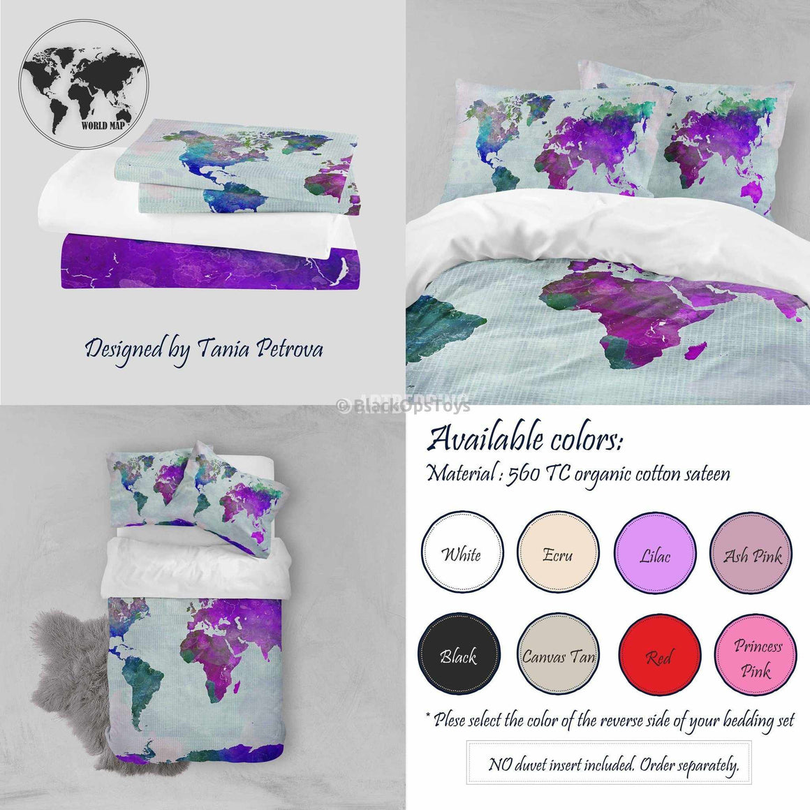 Bohemian wanderlust world map bedding collection tagged watercolor world map watercolor print bedding watercolor art duvet cover set bohemian duvet cover set gumiabroncs Images