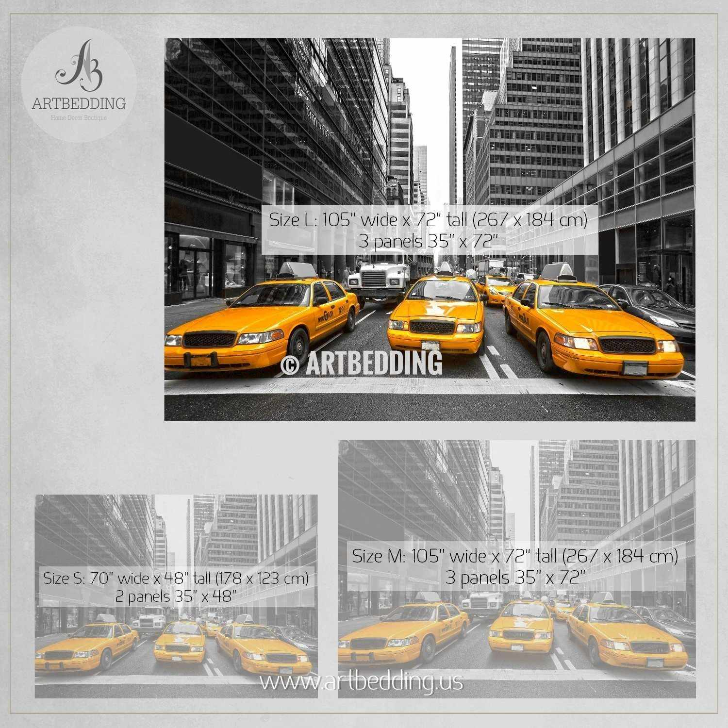 wall murals peel and stick self adhesive vinyl hd print tagged yellow cabs in the city wall mural usa photo mural usa wall decor wall