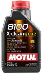 MOTUL 8100 X-CLEAN GEN2 ENGINE OIL 5w40