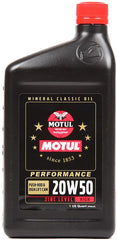 MOTUL CLASSIC PERFORMANCE 20W50 ENGINE OIL