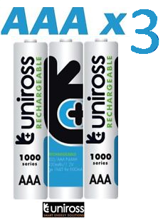 x 3 pack of AAA Batteries